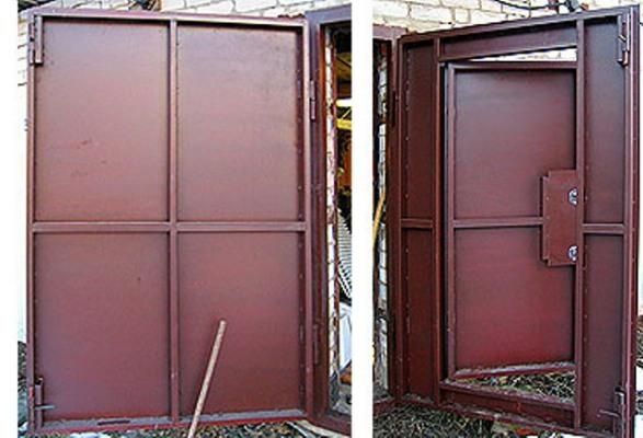 Как сделать ворота дверь