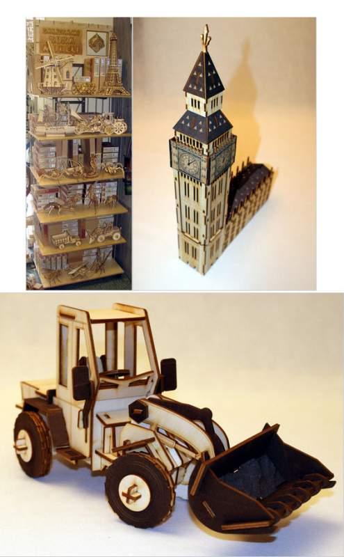 Купить Деревянные 3D пазлы