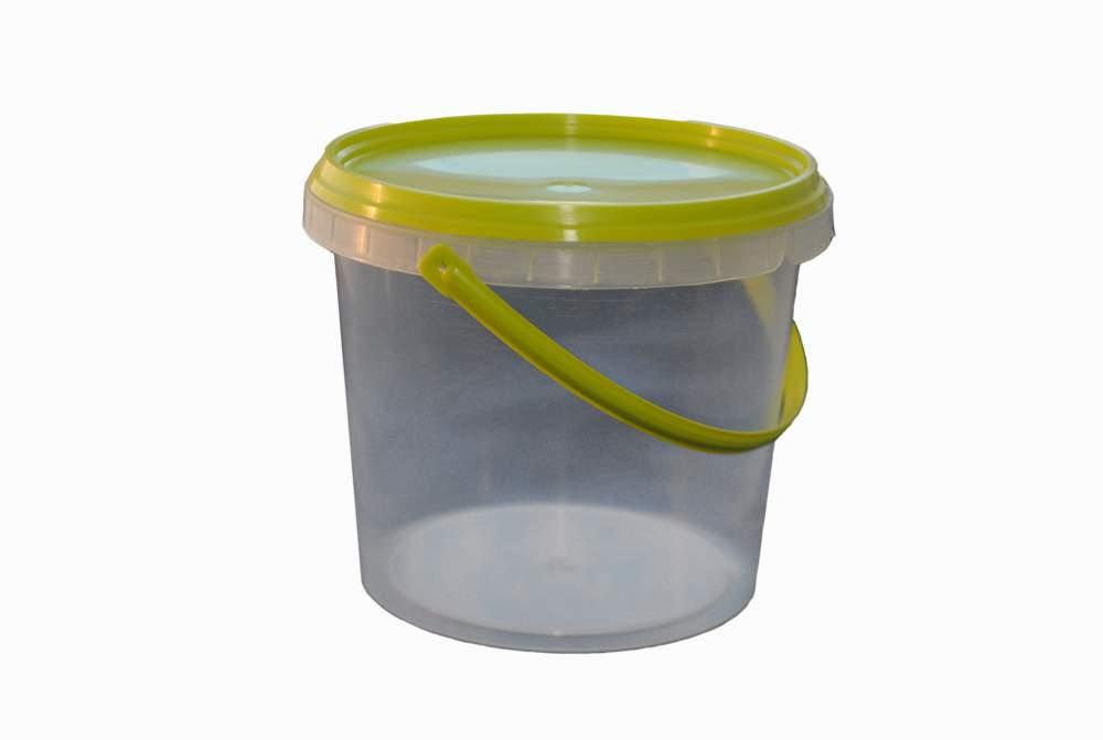Купить Ведерко пластмассовое с крышкой и ручкой емкостью 2,2 литра