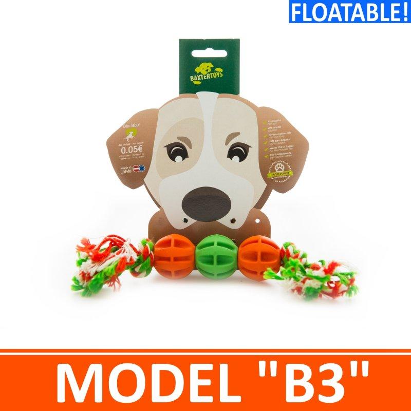 """Купить Игрушка для собак - 3 мячика на канатике. Модель """"B3"""""""