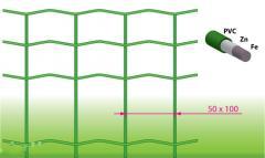 Забор с двойной рамкой