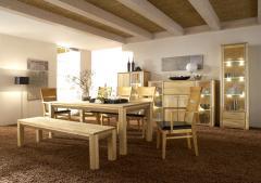 Мебель для столовой из натуральной древесины