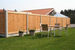 Забор деревянный бесшовный