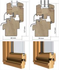 Деревянные окна IV68, IV78
