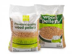 Wood pellets packing film, printed