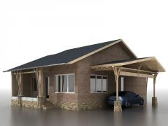 Комплект каркасного дома TURIN - 91 m2