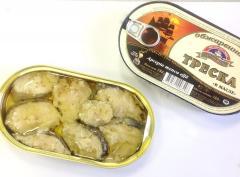 Треска обжаренная в томатном соусе/ масле