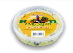 Рыбный салат в майонезе с огурцами