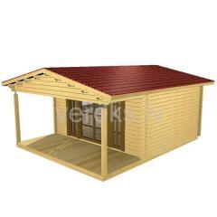 Дом из бруса. Комплект BR-02 профилированного бруса для изготовления каркаса стен