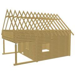 Дом из бруса. Комплект BR-09 профилированного бруса для изготовления каркаса стен
