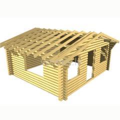 Проект дома D20-01. Сруб из калиброванного бревна 5.0x5.50 m