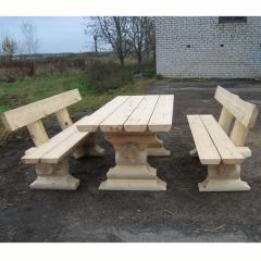 Проект Садового домика SD-6. Скамейки деревянные садовые.