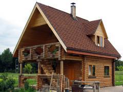 Проекты бань, домов и коттеджей, дачных домов, из оцилиндрованного бревна