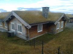 Дом из сруба из сухих сосновых или еловых бревен. Каркасы бревенчатых домов, срубной постройки норвежского типа