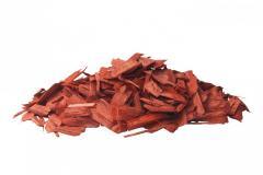 Цветные щепа красная фракция 20 - 50 мм