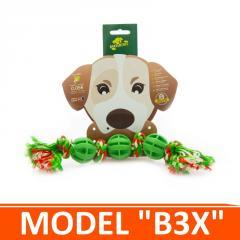 Игрушка для собак - 3 мячика на канатике с узлами. Модель