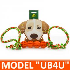 Игрушка для собак - 4 мячика на канатике с двумя петлями. Модель