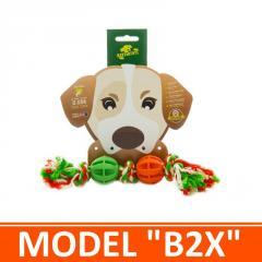 Игрушка для собак - два мячика на канатике. Модель