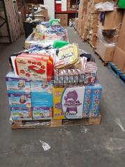 Toys new in pallets. Stock