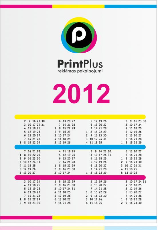 Заказать Печать календарей настенных, настольных, карманных