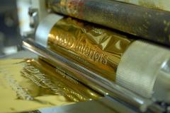 Нанесение «золотого» тиснения на сувенирную (рекламную) продукцию