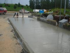 Работы по бетонированию
