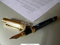 Составление договоров, контрактов